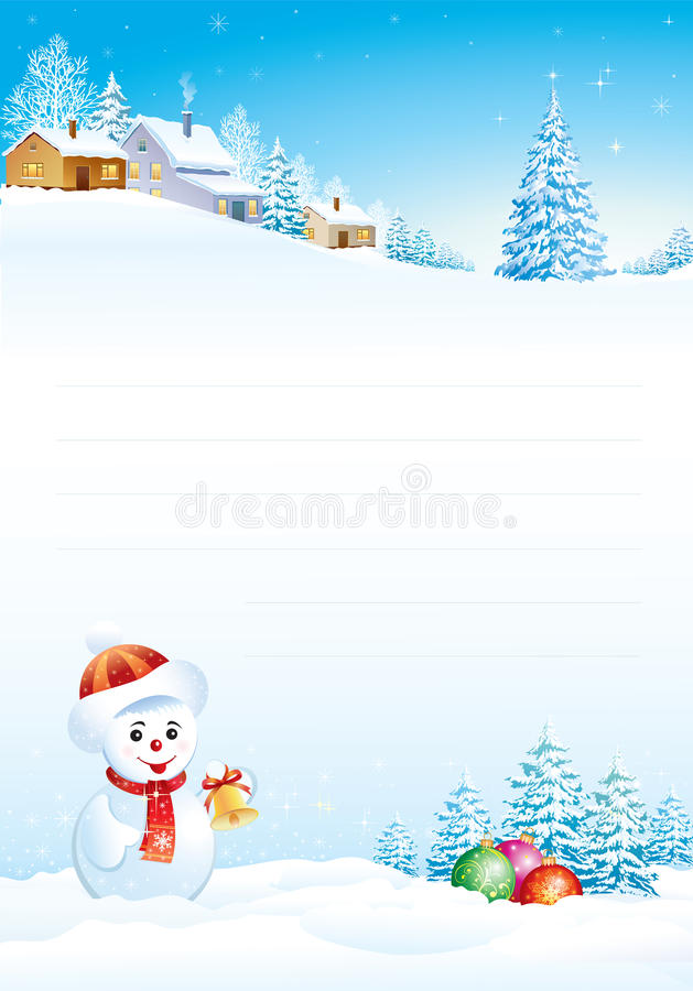 Blank paper for Christmas greeting