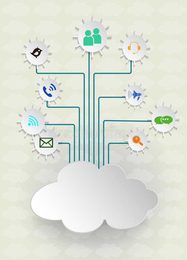 Download Blank Paper Cloud Computing.Social Networks. Stock Vector - Image: 41861499