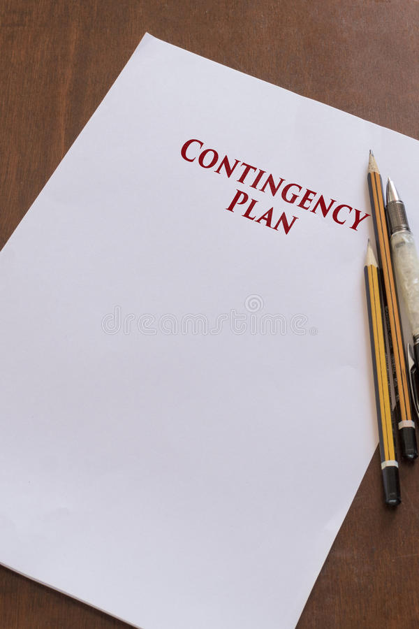 Blank paper with Contingency Plan word. stock photography