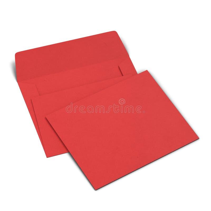 Blank Paper Envelope Mockup Stock Illustration