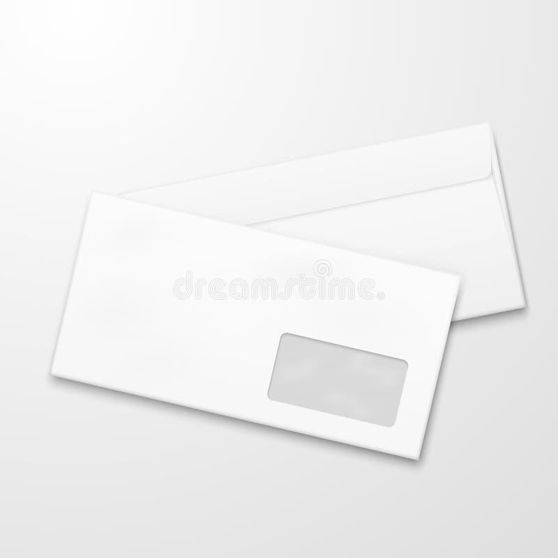 Blank paper envelopes. Email marketing vector concept vector illustration