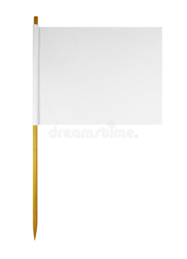Blank paper flag stock photos