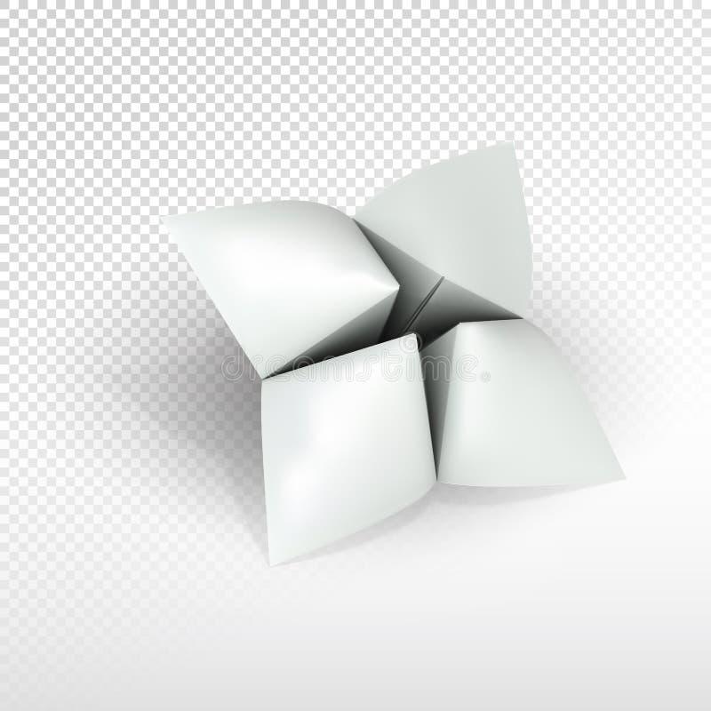 Blank paper fortune teller royalty free illustration