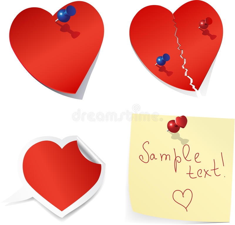 Free Blank Paper Love Notes. Royalty Free Stock Photos - 17467748