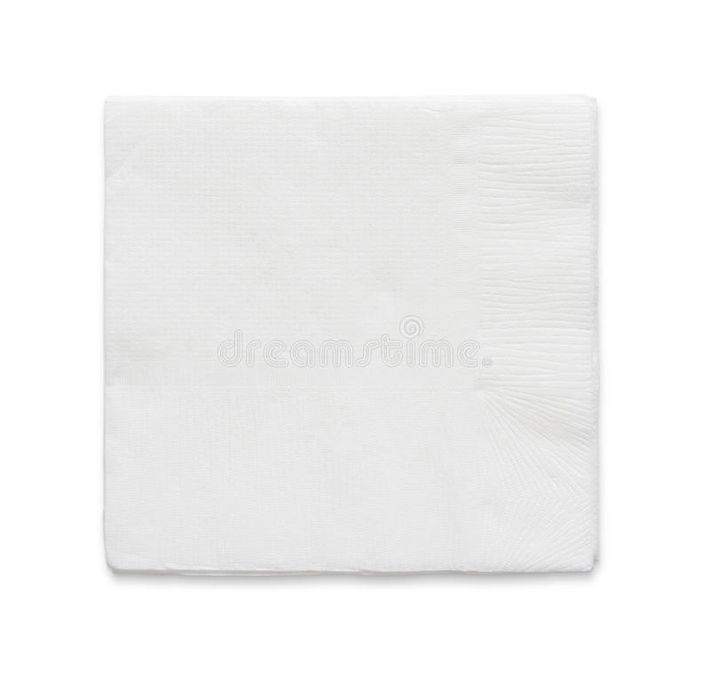 Blank paper napkin stock photo