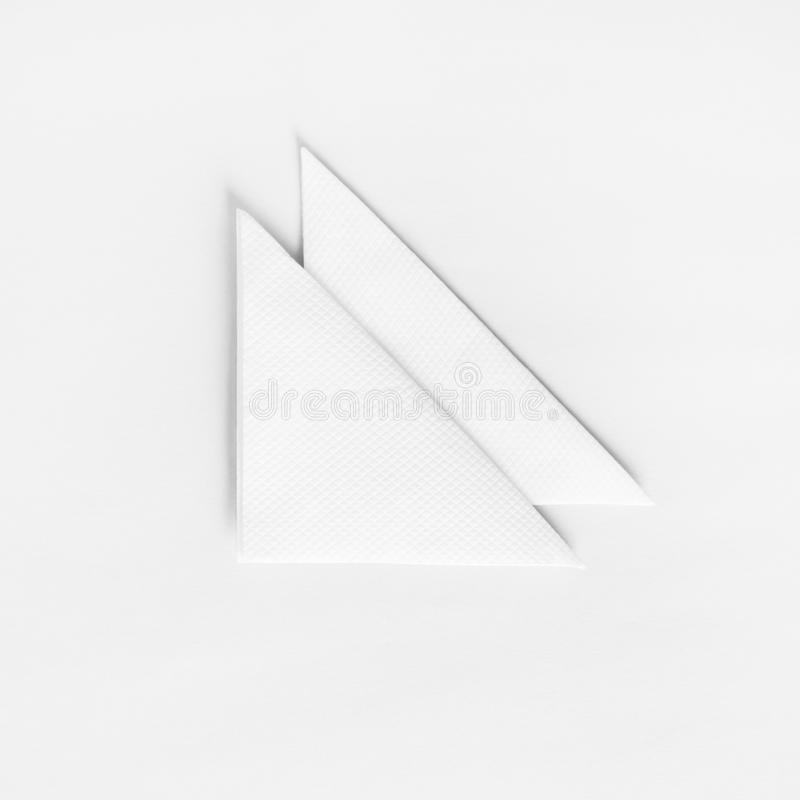 Blank paper napkins stock photo