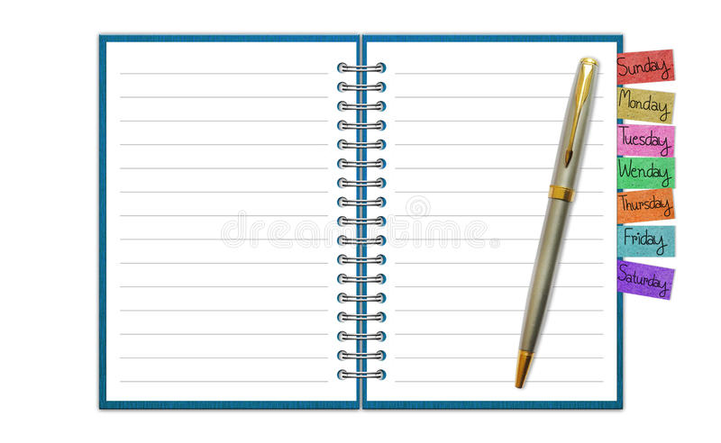 Blank Paper with Notebook stock illustration