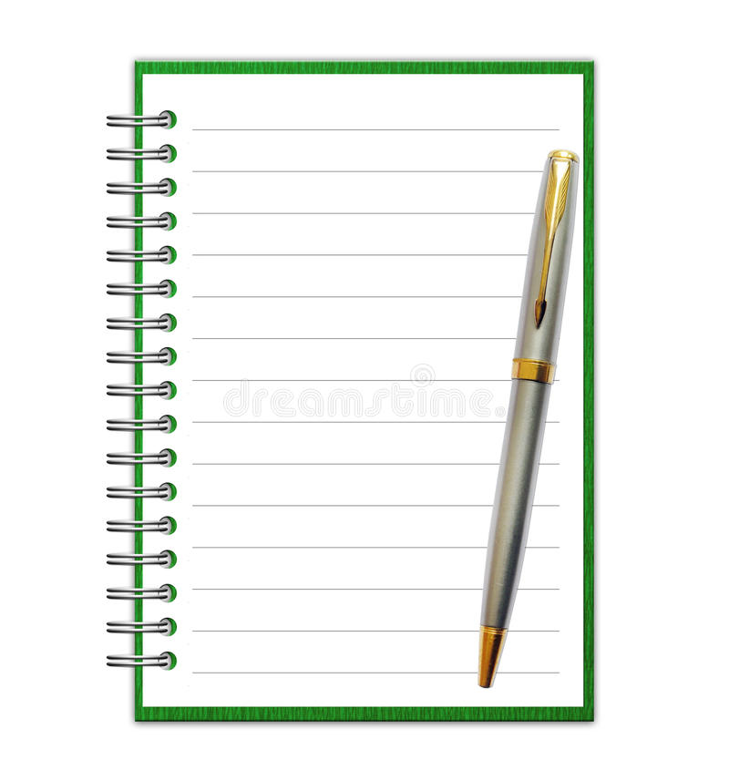 Blank Paper with Notebook vector illustration