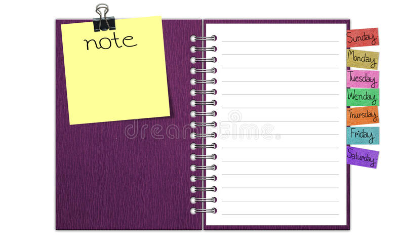 Blank Paper with Notebook royalty free illustration