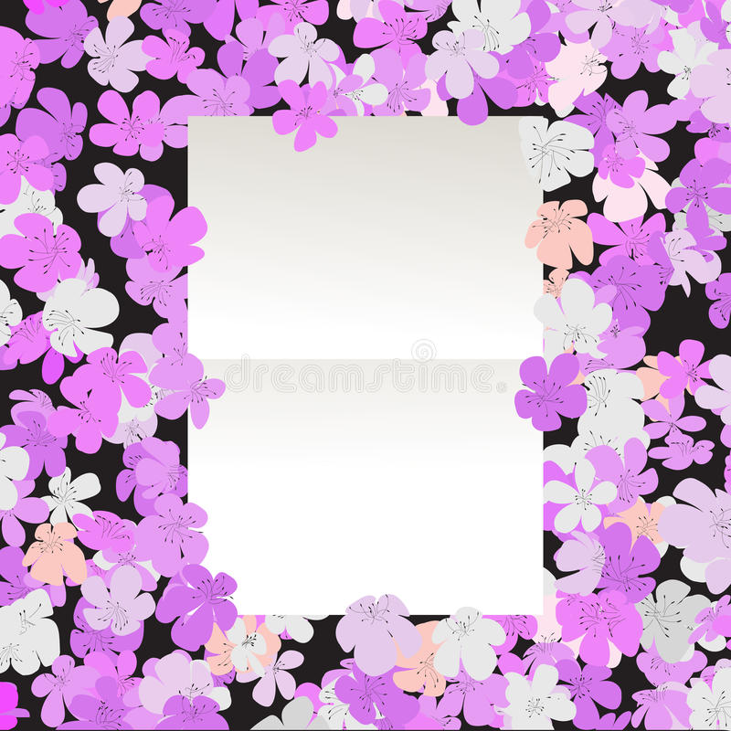 Message Floral Stock Photo