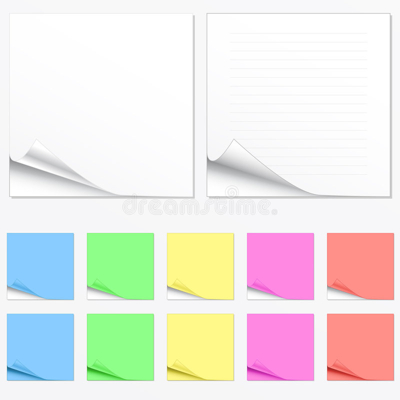 Download Blank Paper Pads In Different Colors Stock Photo - Image: 4562110