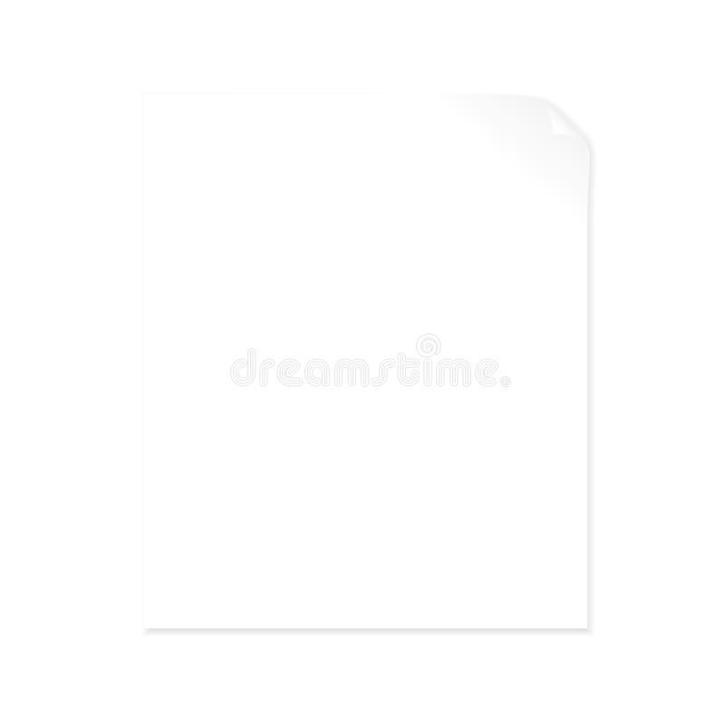 Blank paper with page curl royalty free illustration