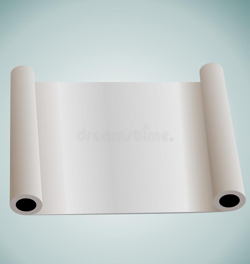 Blank paper roll for design. Illustration of blank paper roll for design - vector vector illustration