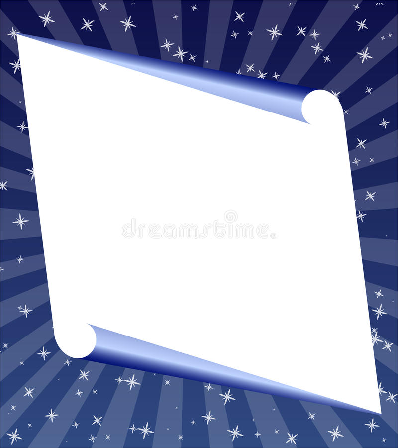 Download Blank paper rolled stock vector. Illustration of announcement - 11739879