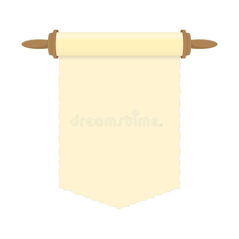 Blank paper scroll. stock illustration
