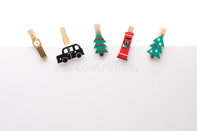 Blank paper sheet with Christmas theme  clip royalty free stock images
