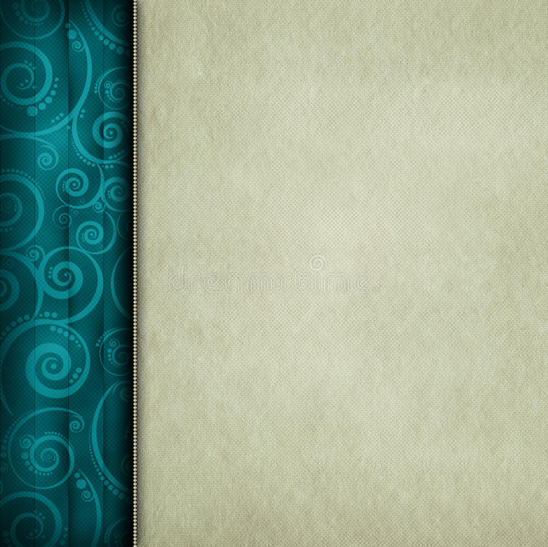 Blank paper sheet and patterned background royalty free illustration