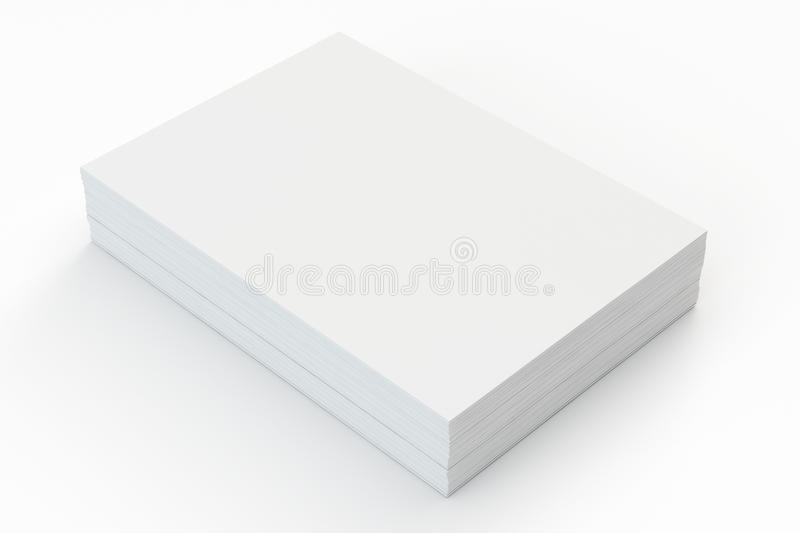 Blank a4 paper stack royalty free illustration