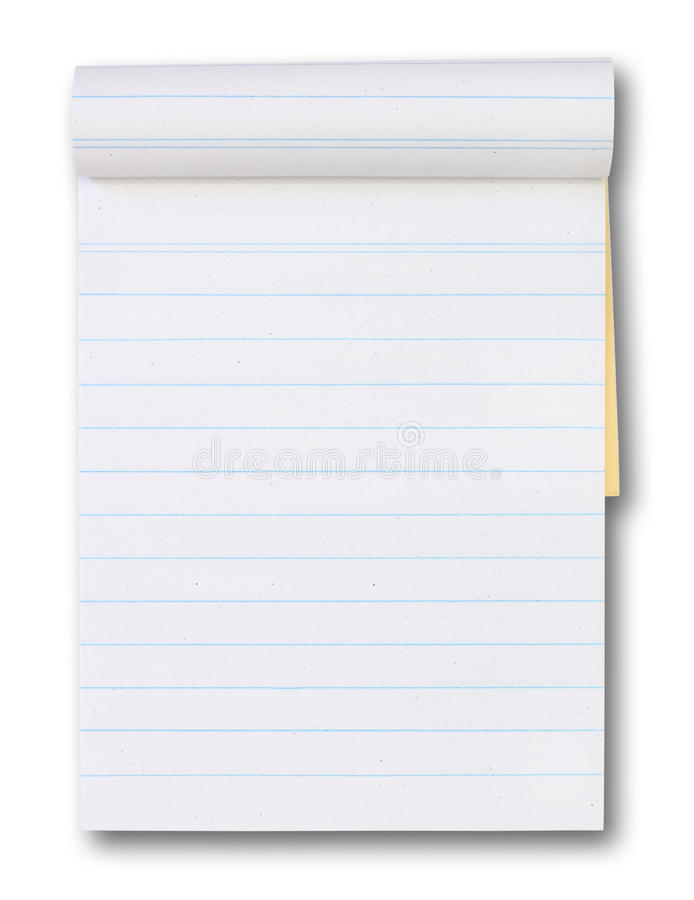 Download Blank Paper Tablet With A Blue Lines Stock Photo - Image: 20953800