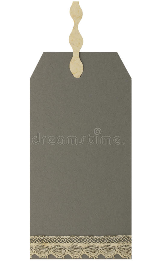 Blank paper tags stock image