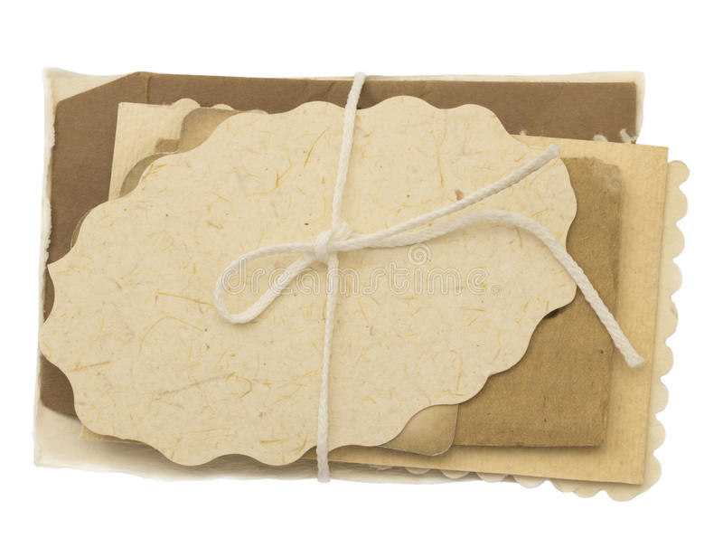 Blank paper tags royalty free stock photo