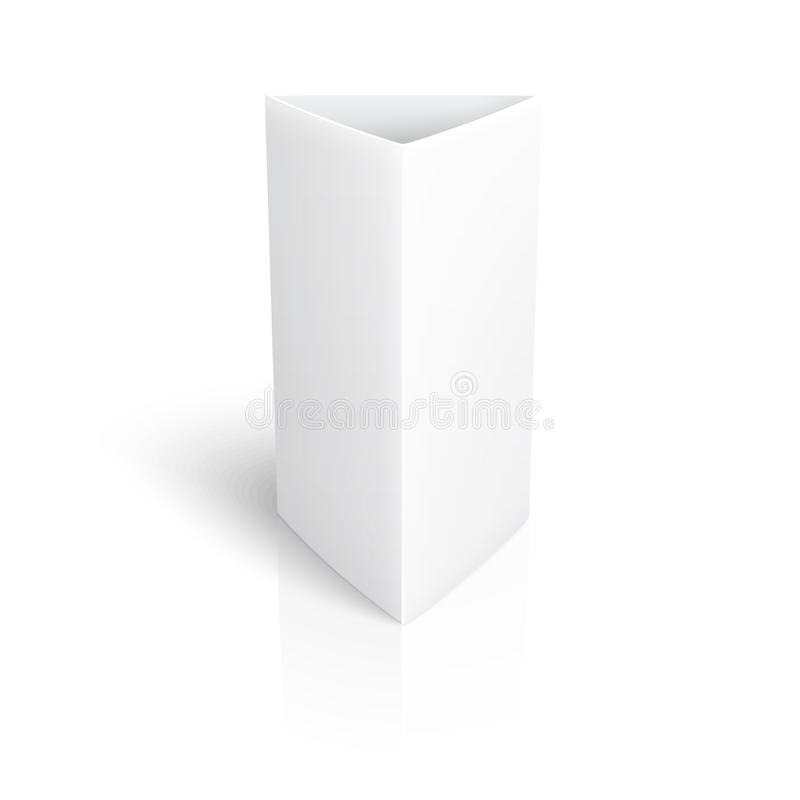 Blank paper vertical triangle card. vector illustration
