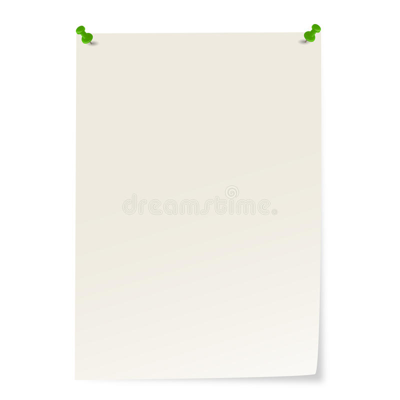 Free Blank Paper With Pins And Corner Sticking Out Stock Images - 88650734