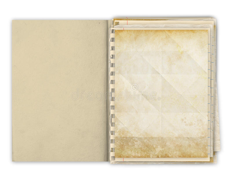 Download Blank Papers In An Hand Made Book Royalty Free Stock Photos - Image: 23973618