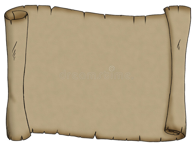 Download Blank Parchment stock illustration. Image of tattered - 4461095