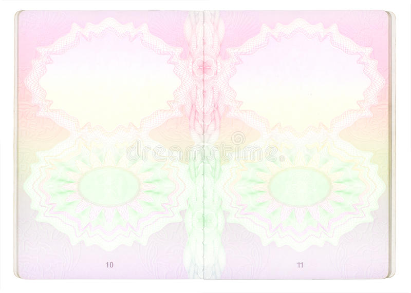 Blank Passport Pages Royalty Free Stock Photo