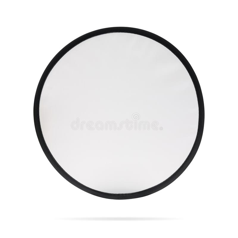 Blank patch or fabric label on isolated background with clipping path. White logo team or emblem for montage or your design. Blank patch or fabric label on stock photo