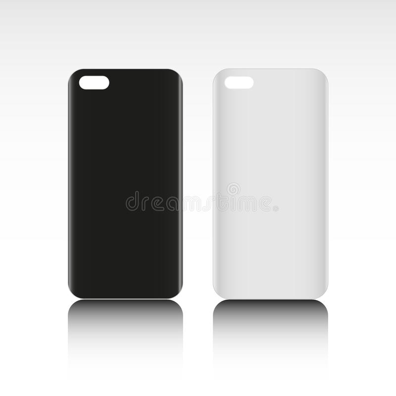 Blank phone case. Black and white colors. Vector illustration vector illustration