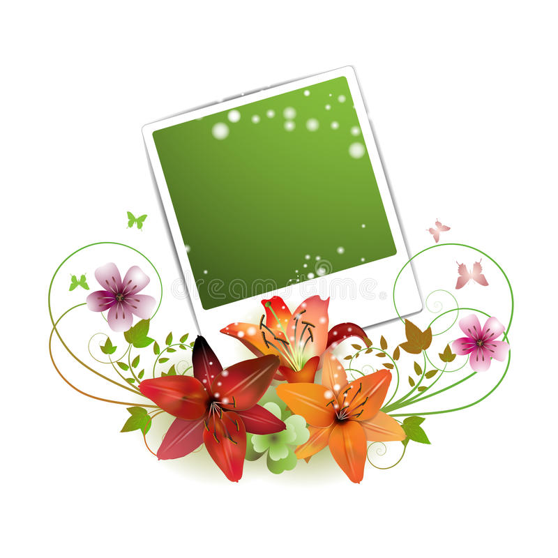 Download Blank photo stock vector. Image of instant, daisy, effect - 18260942