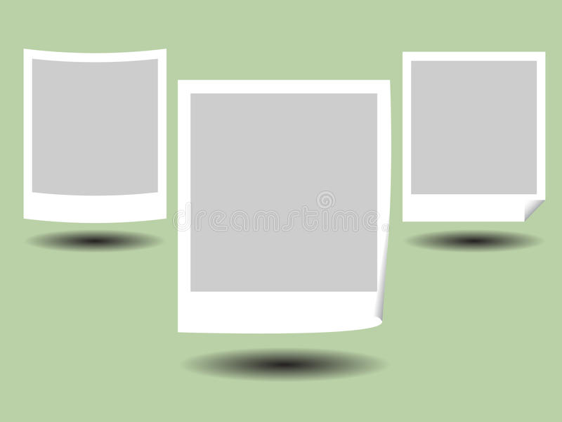 Blank Photo Frame. Illustration of Blank Photos Frame with Shadow royalty free illustration