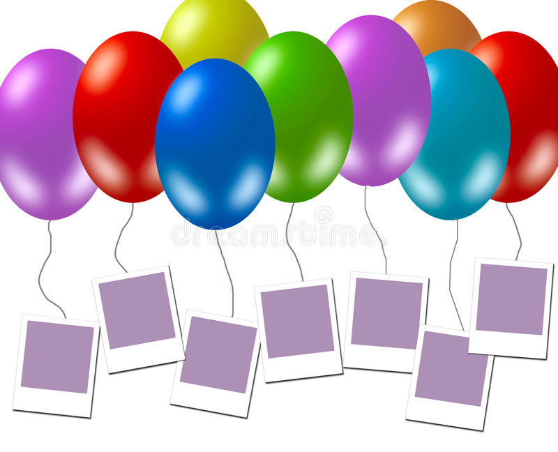 Download Blank Photo Frames, Kids Party Stock Illustration - Illustration of design, blank: 4430780