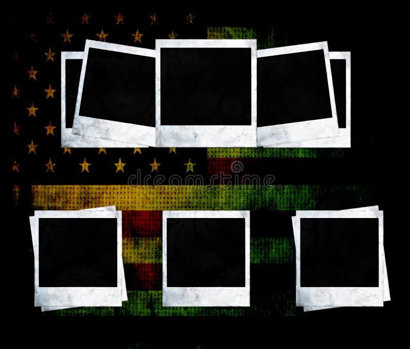 Download Blank Photo Frames On USA Flag Stock Illustration - Illustration: 12815091
