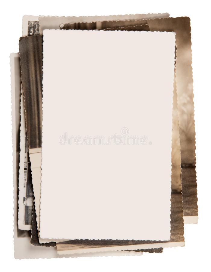Free Blank Photo On A Stack Of Old Photos Royalty Free Stock Photo - 18349305