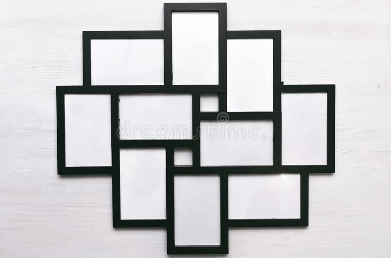 Blank photo picture frame. stock photography