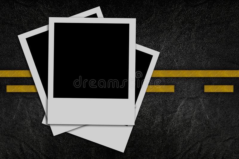 Blank Photo On Road Pattern Royalty Free Stock Photography