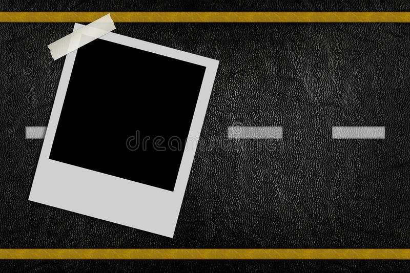Download Blank Photo On Road Pattern Stock Illustration - Image: 21070894