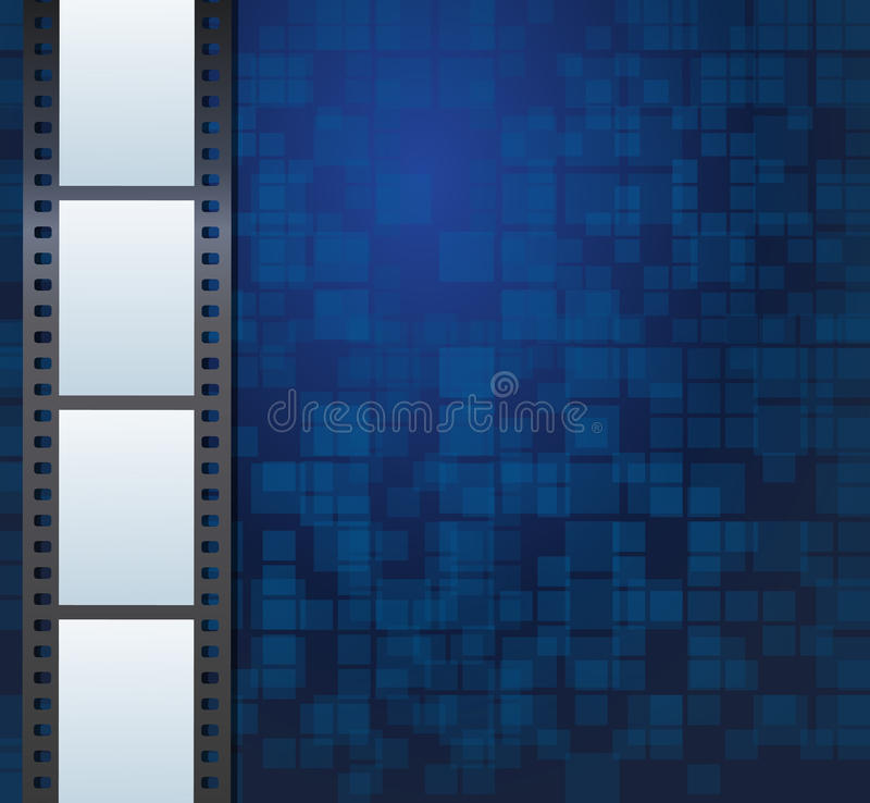 Blank photo or video template vector illustration