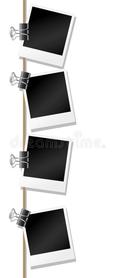 Download Blank photographs stock vector. Image of bulldog, polaroid - 8673690