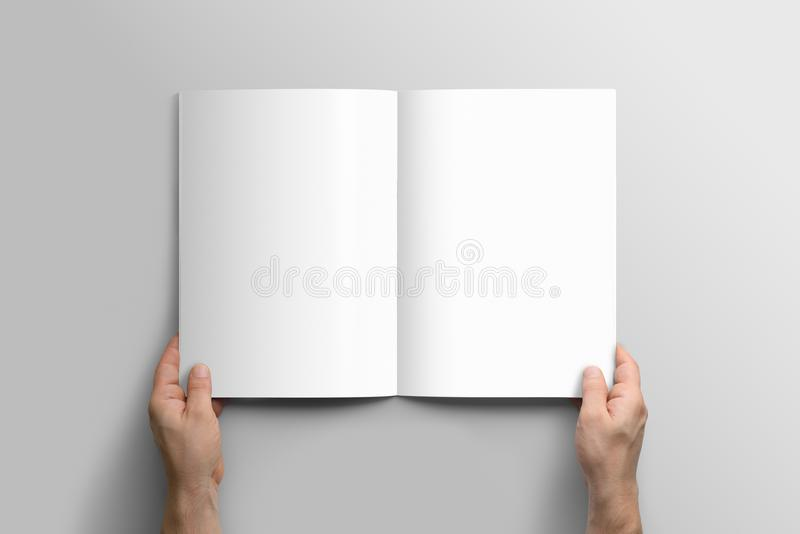 Blank A4 photorealistic brochure mockup. royalty free stock photography