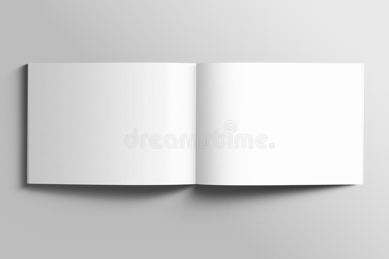Blank A4 photorealistic landscape brochure mockup. vector illustration