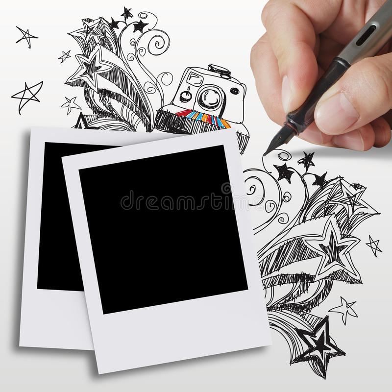 Download Blank photos stock illustration. Image of fashioned, film - 24924744