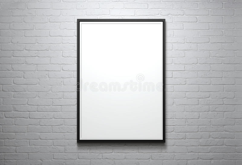 Download Blank picture frame stock photo. Image of hanging, gallery - 43769044