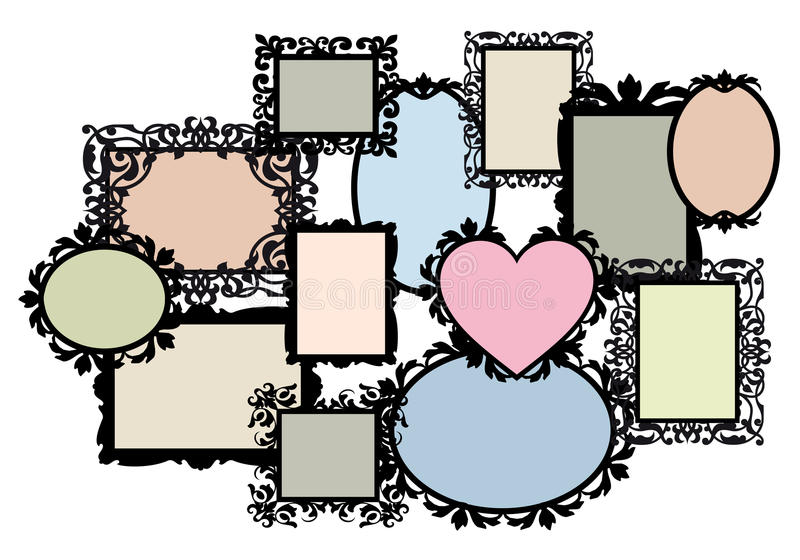 Download Blank Picture Frame Set, Vector Stock Vector - Image: 22403966