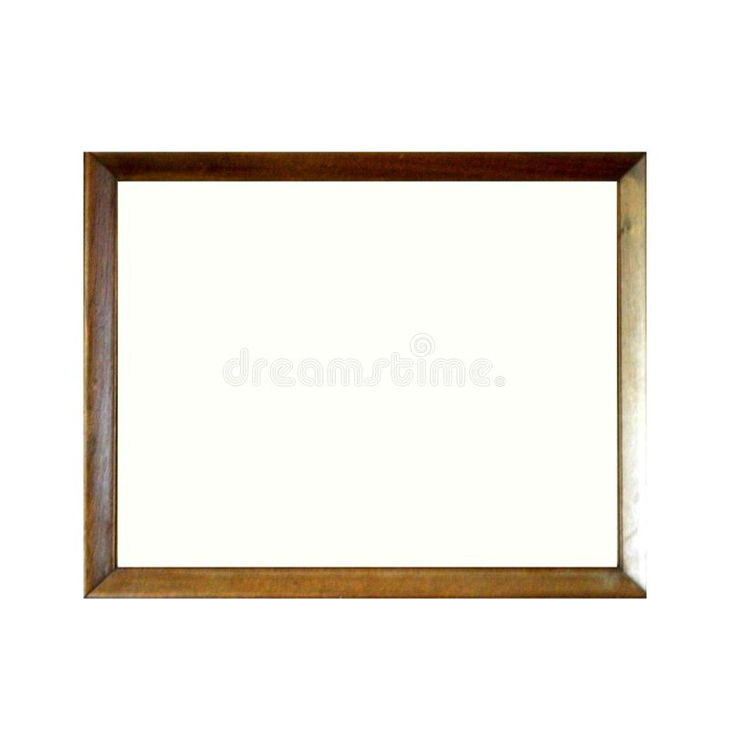 Blank Picture Frame On White Wall royalty free illustration