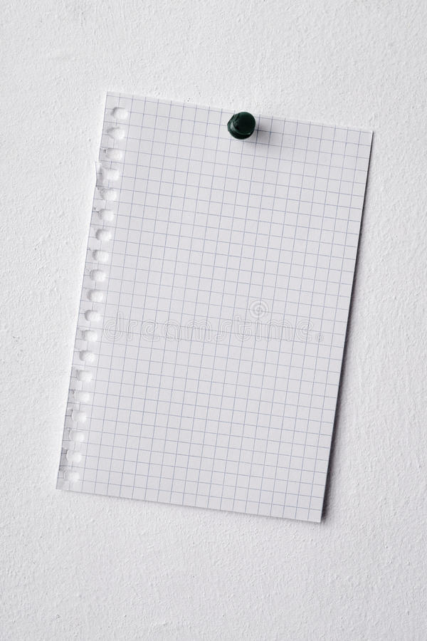 blank piece of paper pinned in a wall stock image image of empty