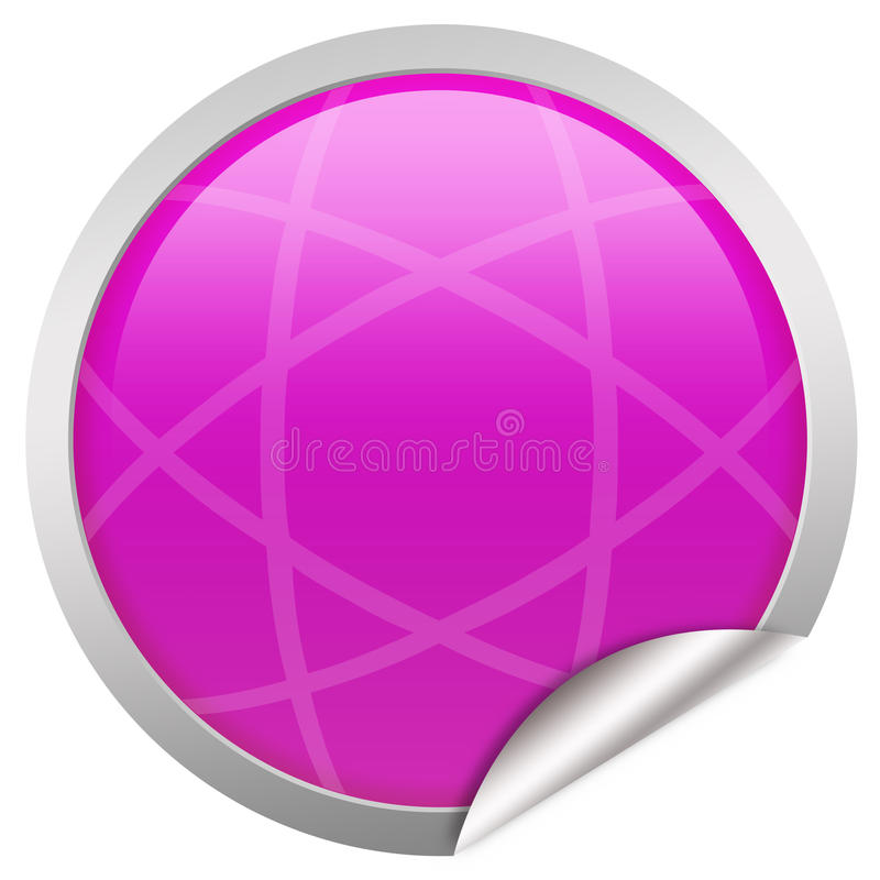 Blank pink label stock illustration